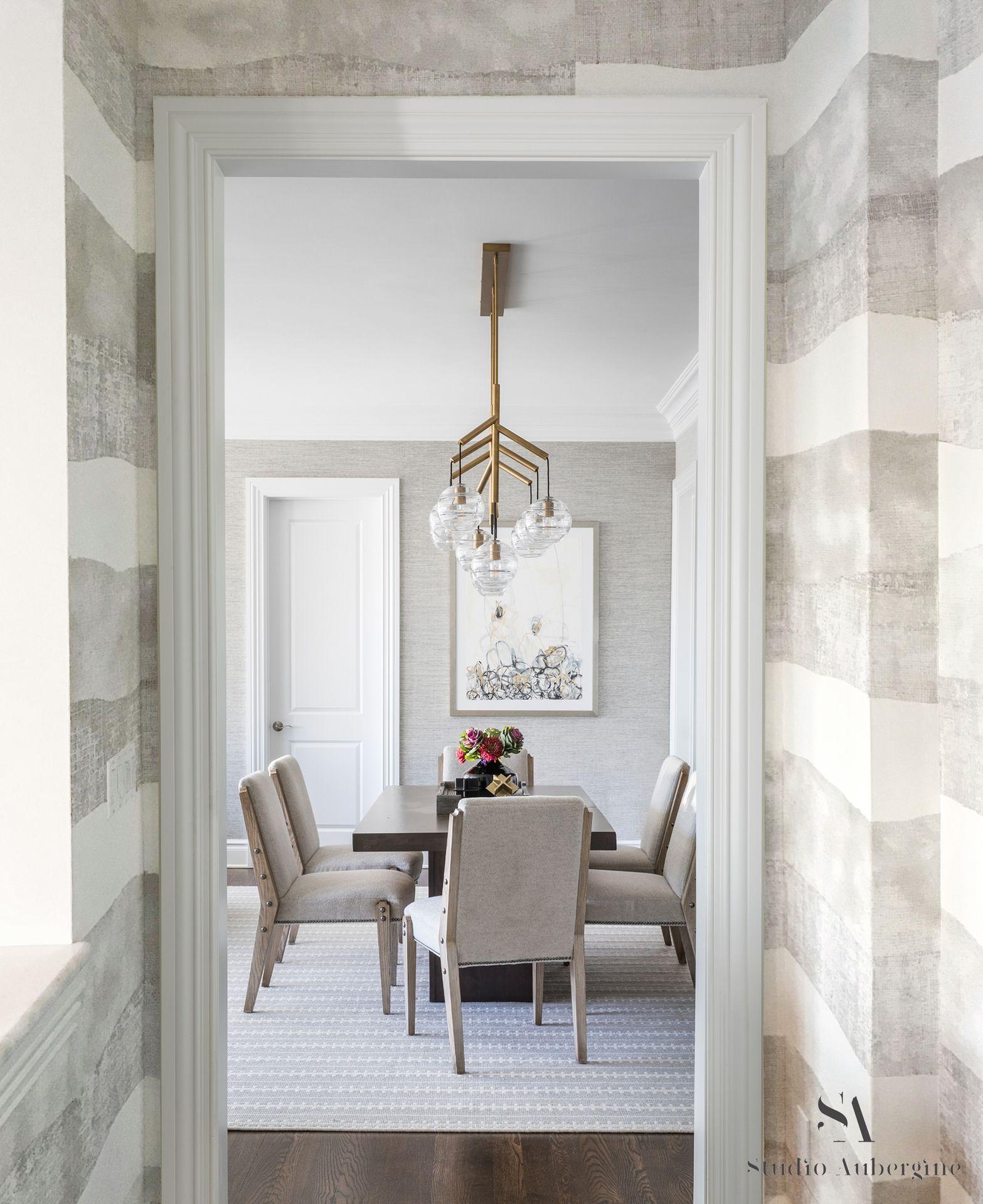 Stunning Striped Elitis Wallpaper In