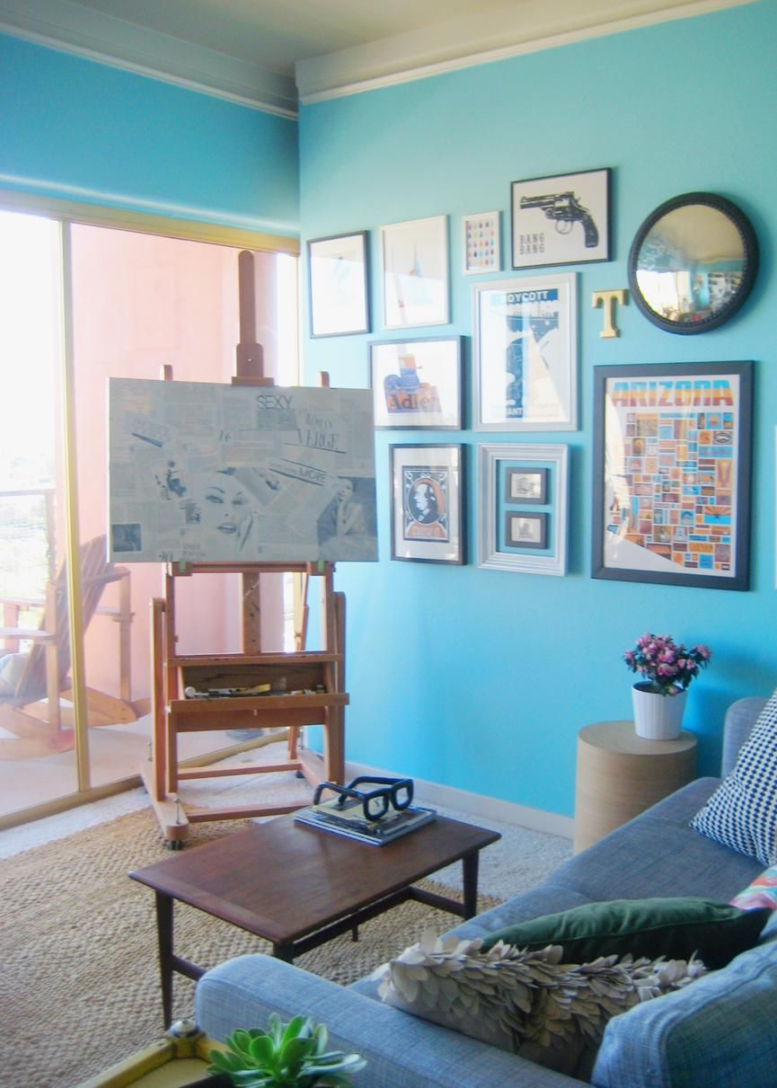 Paint Colors That Match This Apartment Therapy Photo SW 7069 Iron Ore 9052