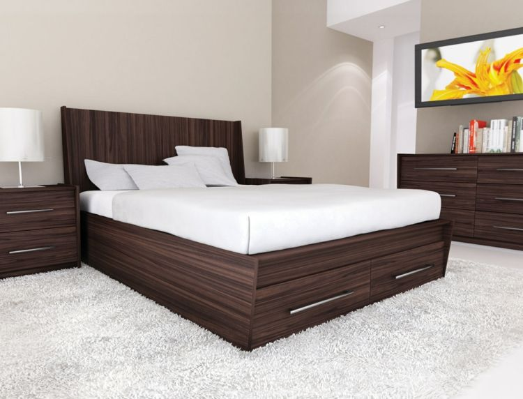 Bed With Bed Box A Good Space Saving Idea Contemporary Bedroom