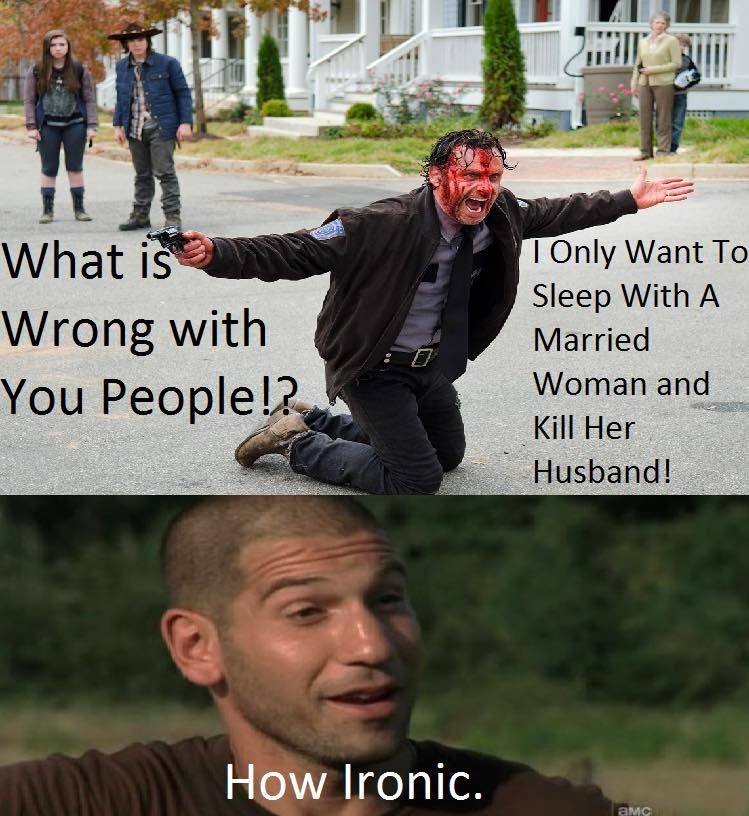 cf25ffdf21930c9feb24cbd8d4cc373f rick and shane the walking dead funny meme lol this is kinda