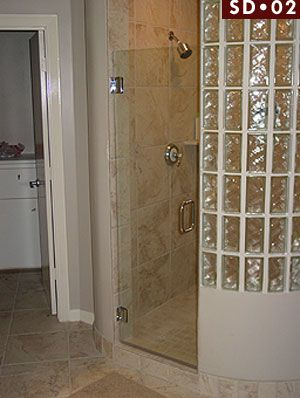 Photo Gallery   Glass Shower Enclosures Dallas, TX Glass Block Shower Wall  And