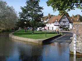 Eynesford in Kent, England If you cross over the ford and
