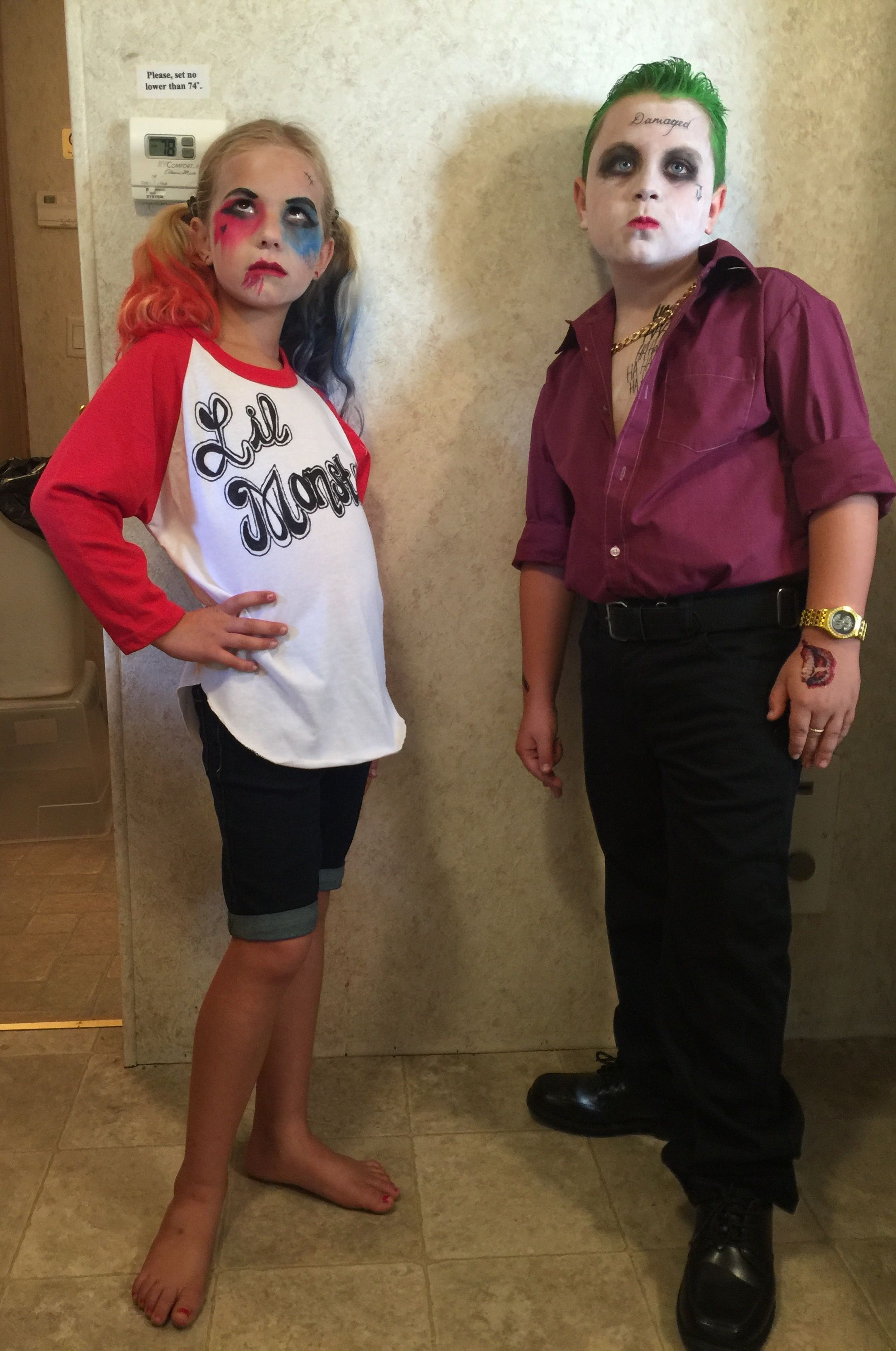 joker and harley quinn kids halloween costume 2016 suicide squad more - Joker Halloween Costume Kids