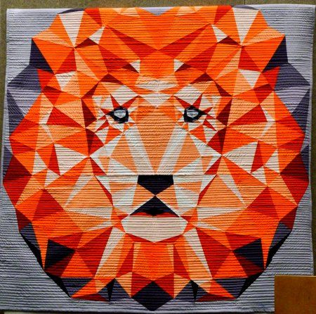 Minneapolis Quilt Market spring 2015 – Violet Craft Jungle ... : lion quilt pattern - Adamdwight.com