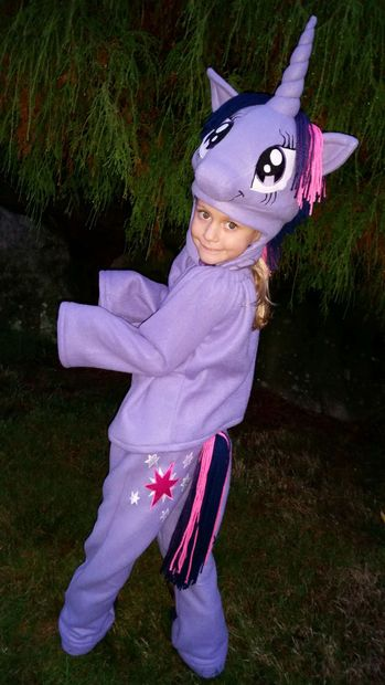 Twilight Sparkle Tights My Little Pony Purple Halloween Child Costume Accessory