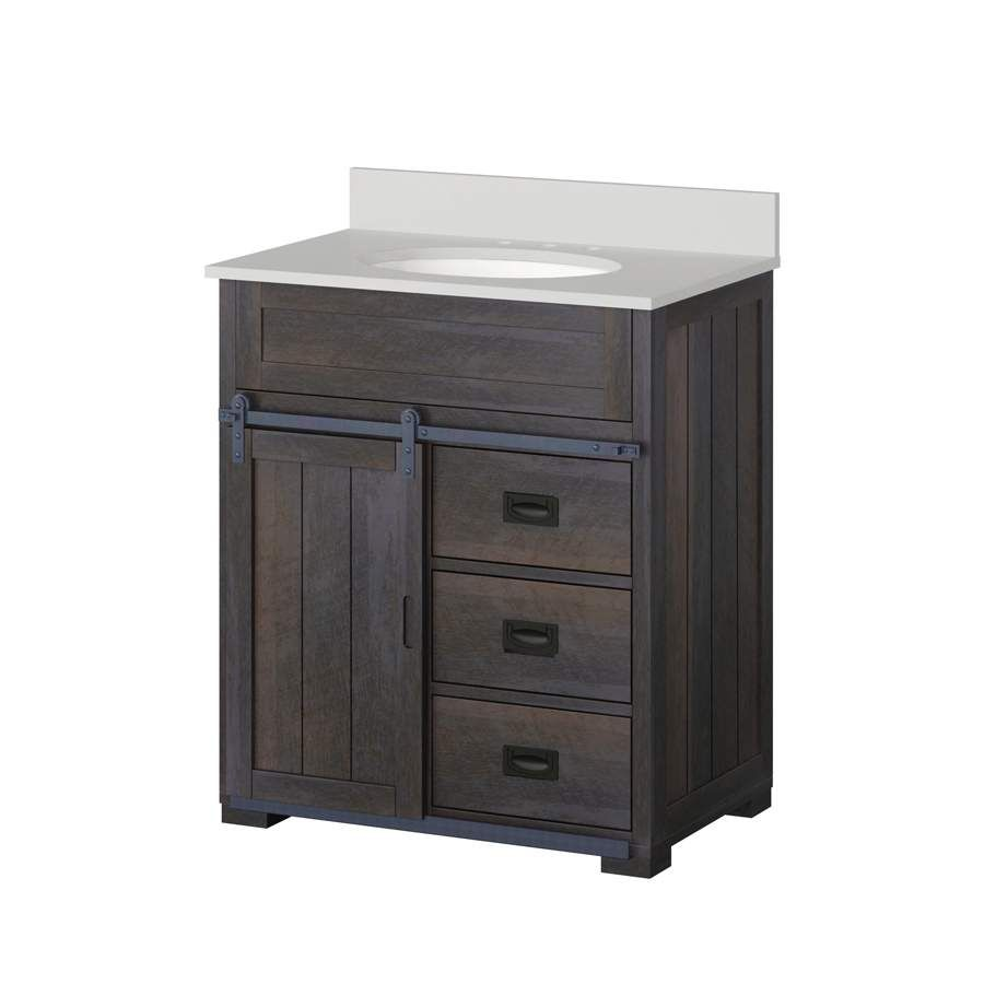 Lowes Style Selections Barndoor Farmhouse 30 in Sink Bathroom