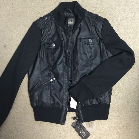 Black Leather Jacket Brand New with tags! This coat was a gift and I just have never worn it. Jackets & Coats