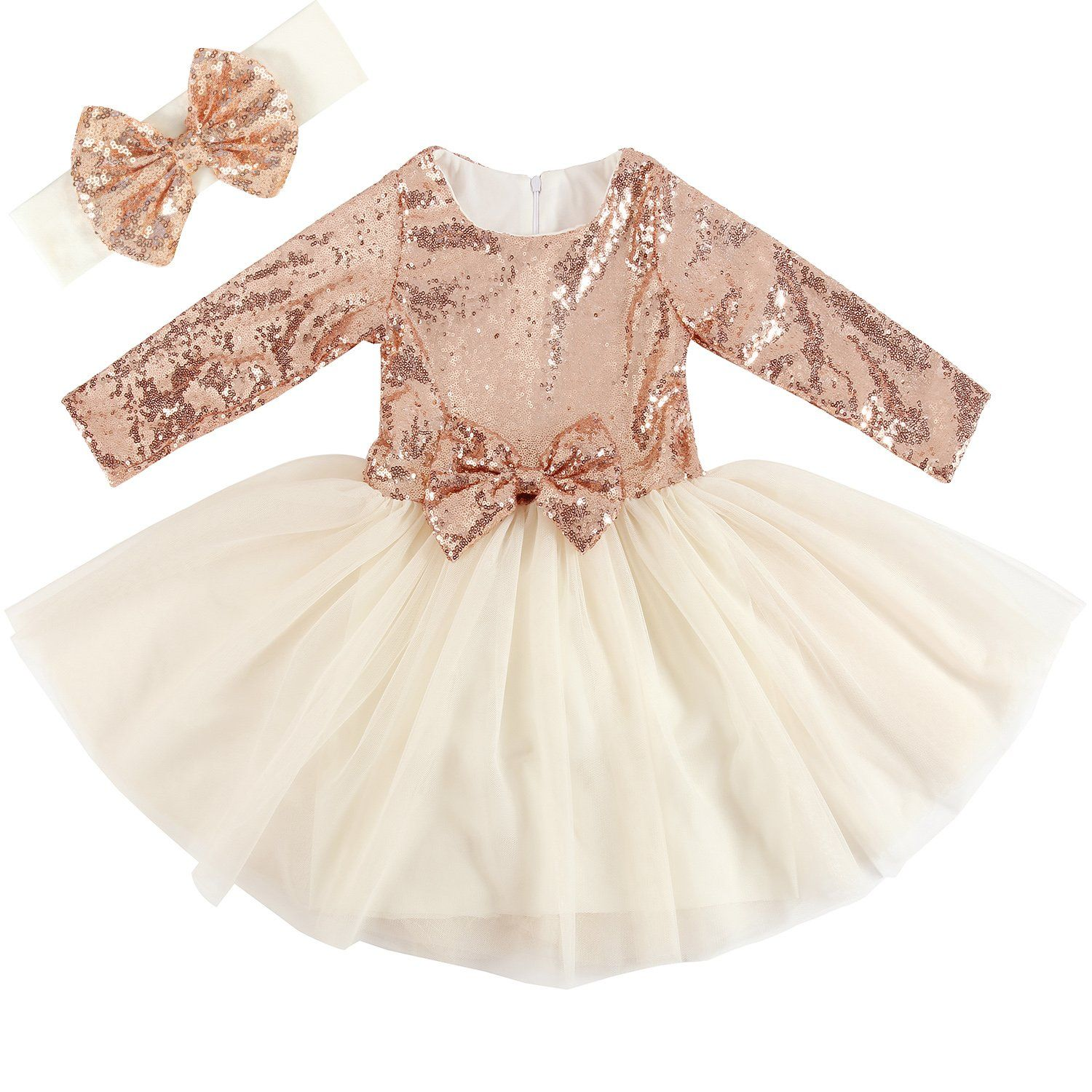 Cilucu flower girl dresses toddlers sequin party dress tutu prom