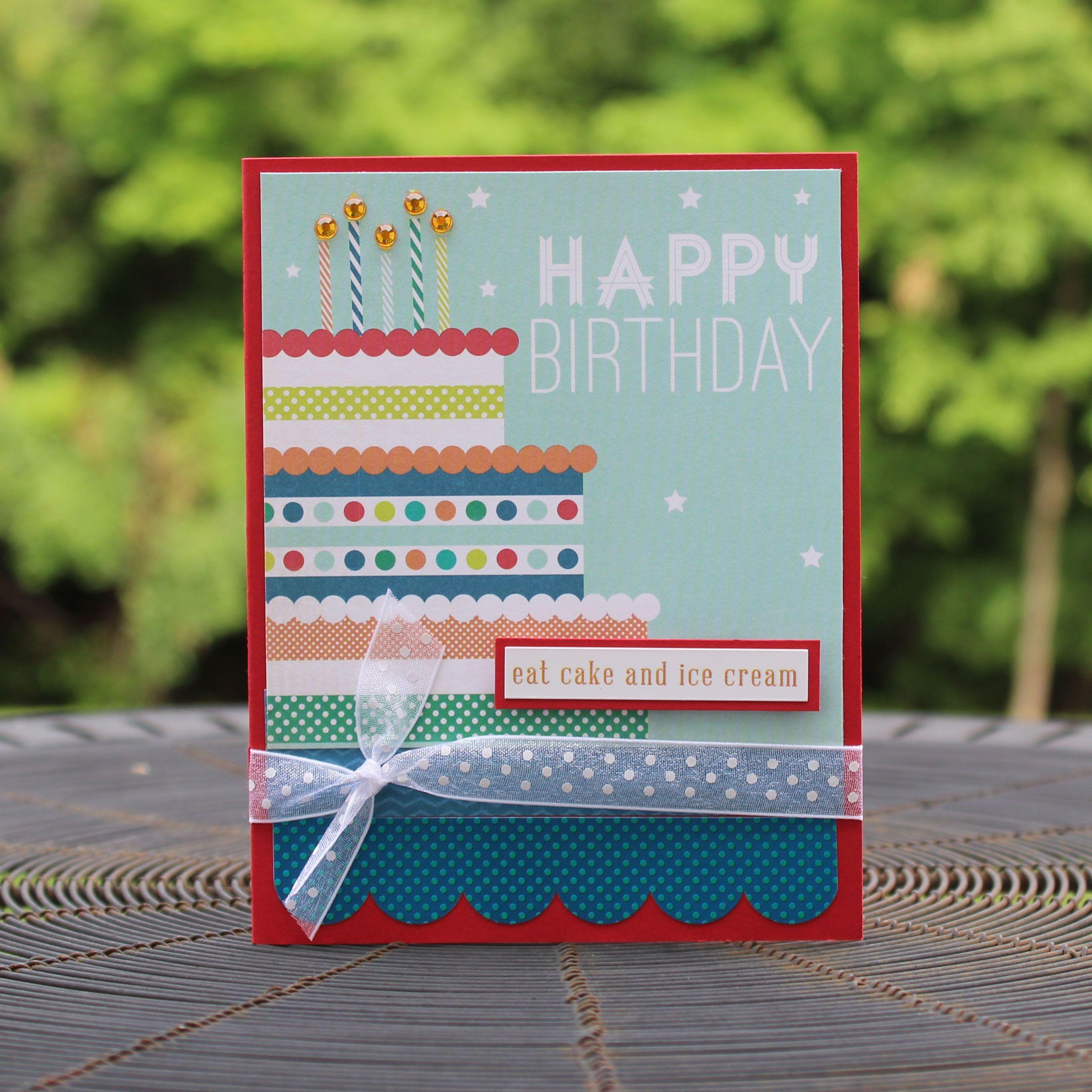 Birthday Cake Happy Birthday Handmade Greeting Card Generic Birthday