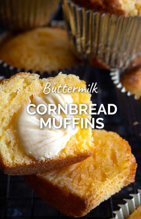 Buttermilk Cornbread Muffins Video Recipe Video In 2020 Buttermilk Cornbread Muffins Buttermilk Cornbread Cornbread Muffins