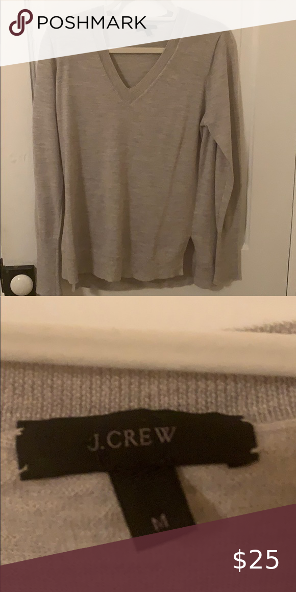 Gray Merino Wool J. Crew Sweater