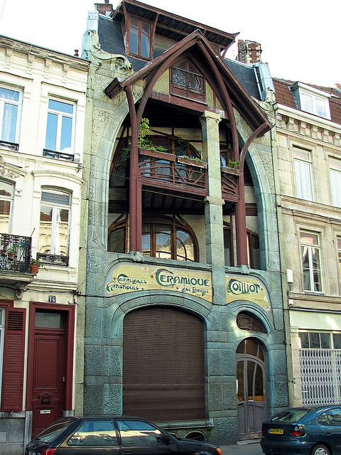 Lille maison coillot architect hector guimard 1898 for Decoration maison lille