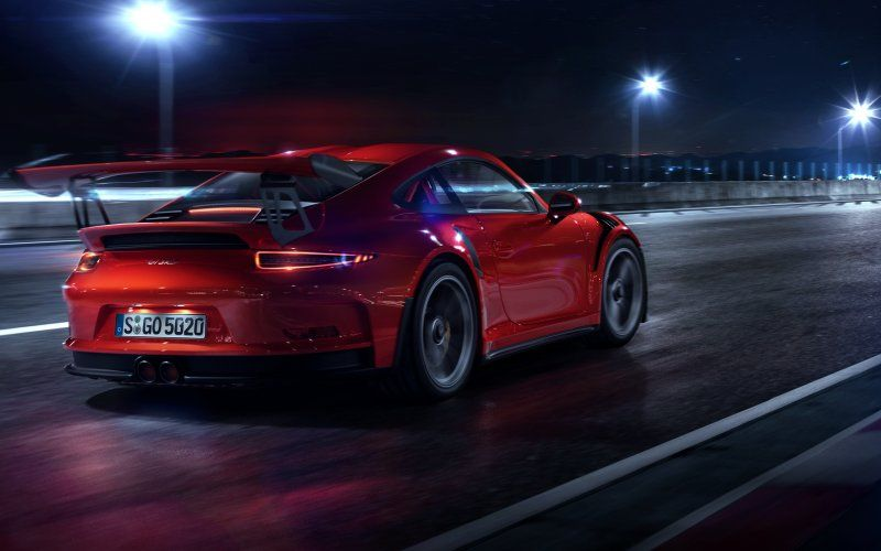 Wallpaper Red Porsche Gt3 Rs Digital Art Porsche 911 Gt3 Porsche Gt3 Gt3 Rs