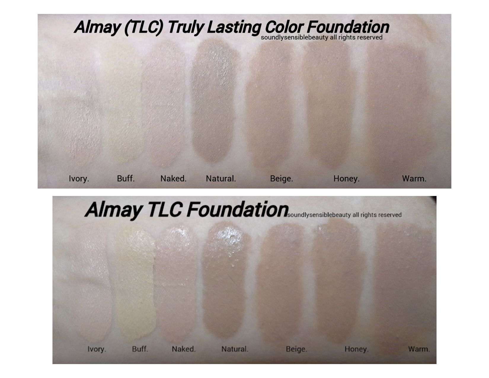 Almay TLC Foundation Swatches Makeup Swatches