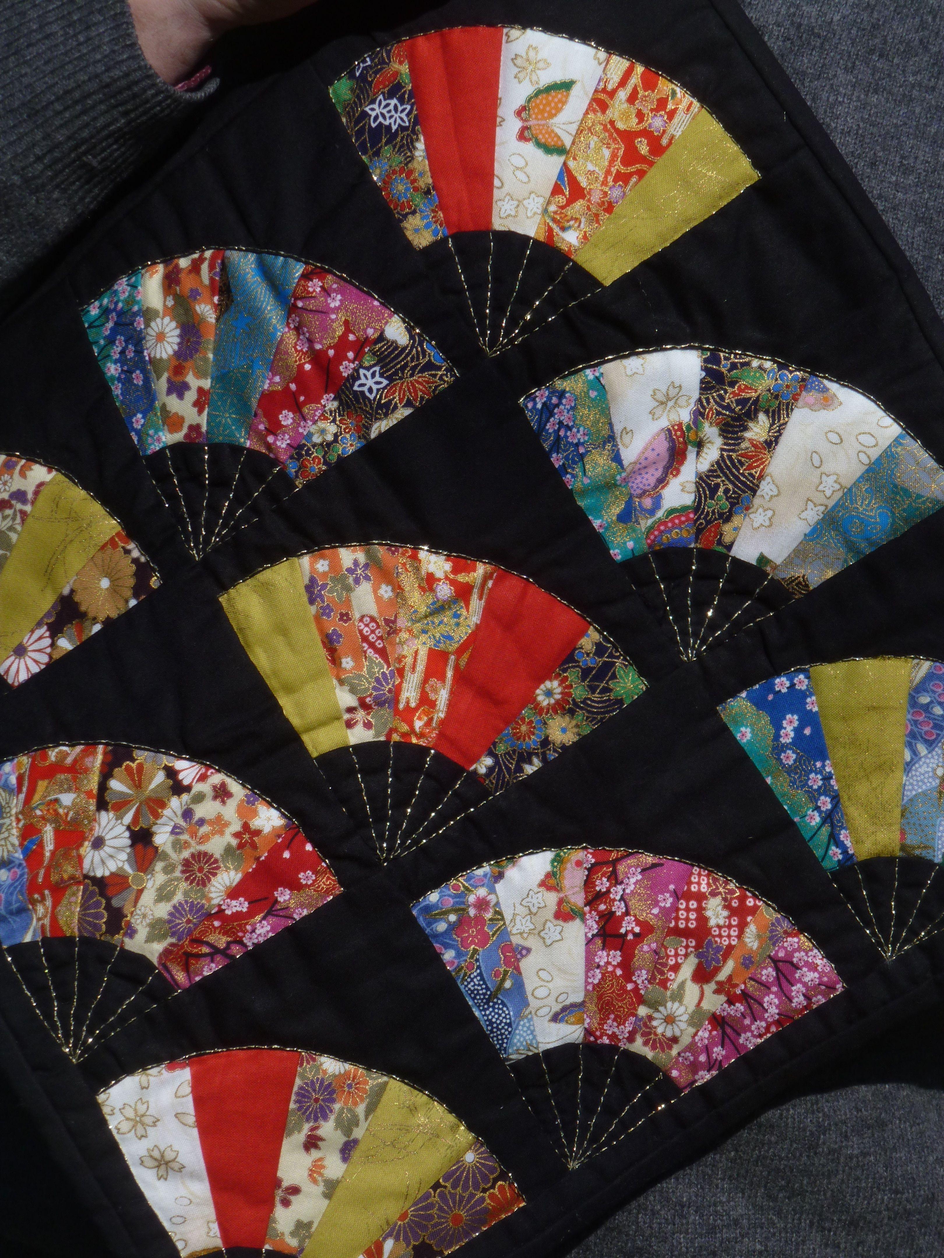 Fan Quiltpcjapanese Fan Quilt Detail