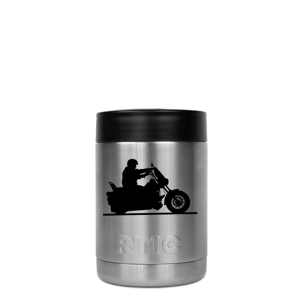 RTIC Can Cooler Motorcycle Laser Etched