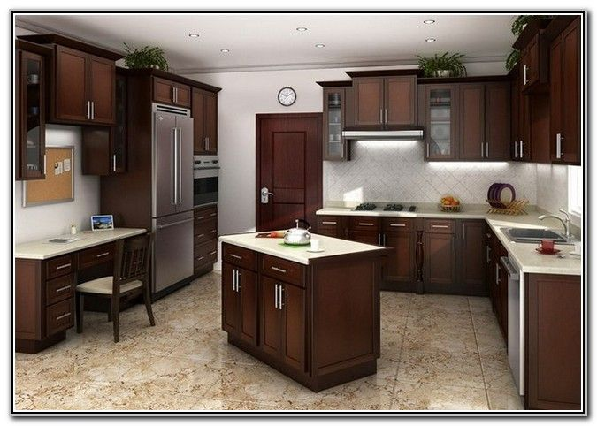Hampton Bay Kitchen Cabinets Cognac | Kitchen Remodel ...