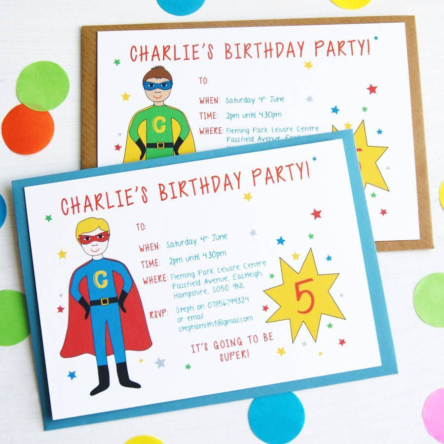 Birthday Invitation Custom Invitations