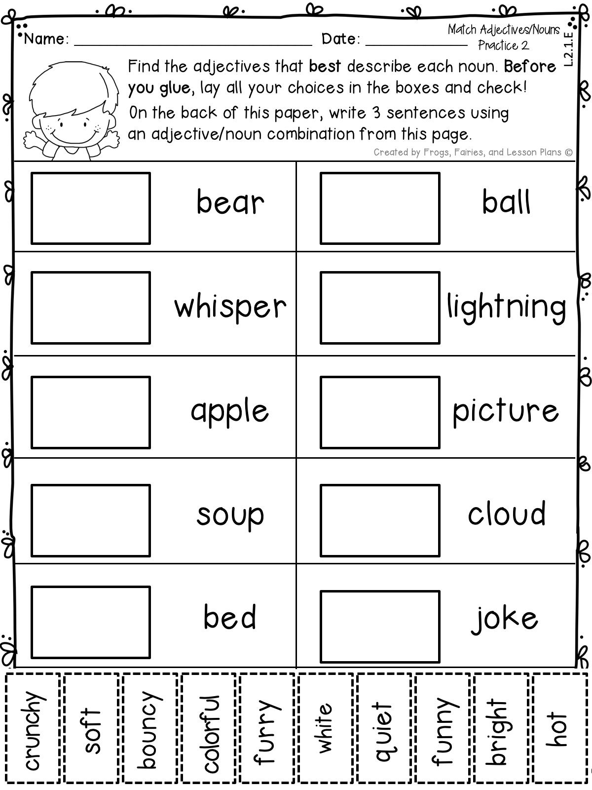 small resolution of Adjective and Adverb Resources for 2nd Graders   Adjectives activities