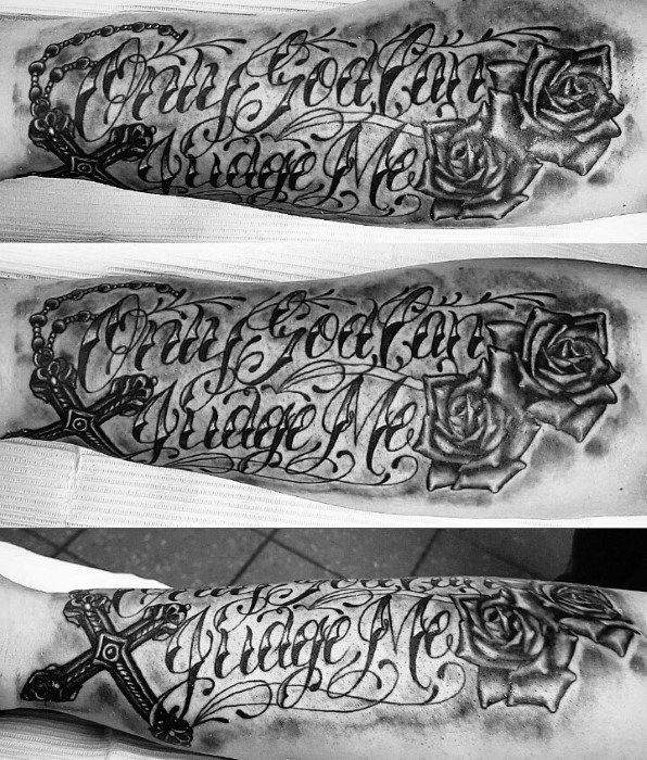 Tattoo Quotes On Hip: 60 Only God Can Judge Me Tattoo Designs For Men