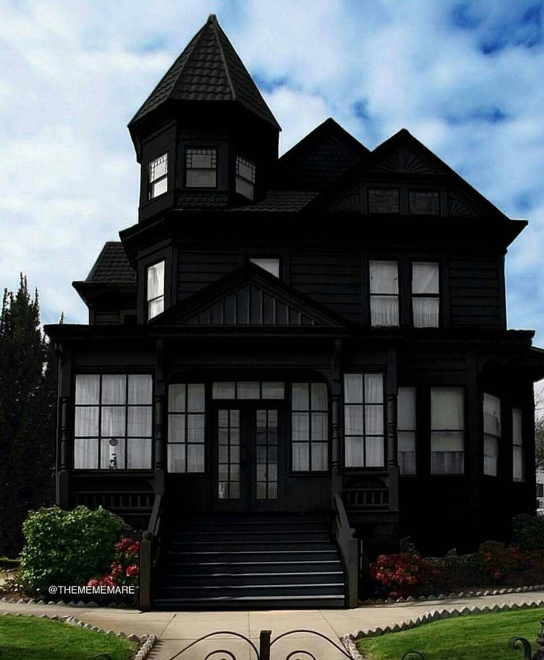 Wonderful black exterior on a classic Victorian