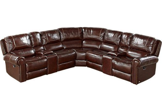 Cindy Crawford Home Campania Brown Leather 7 Pc Power
