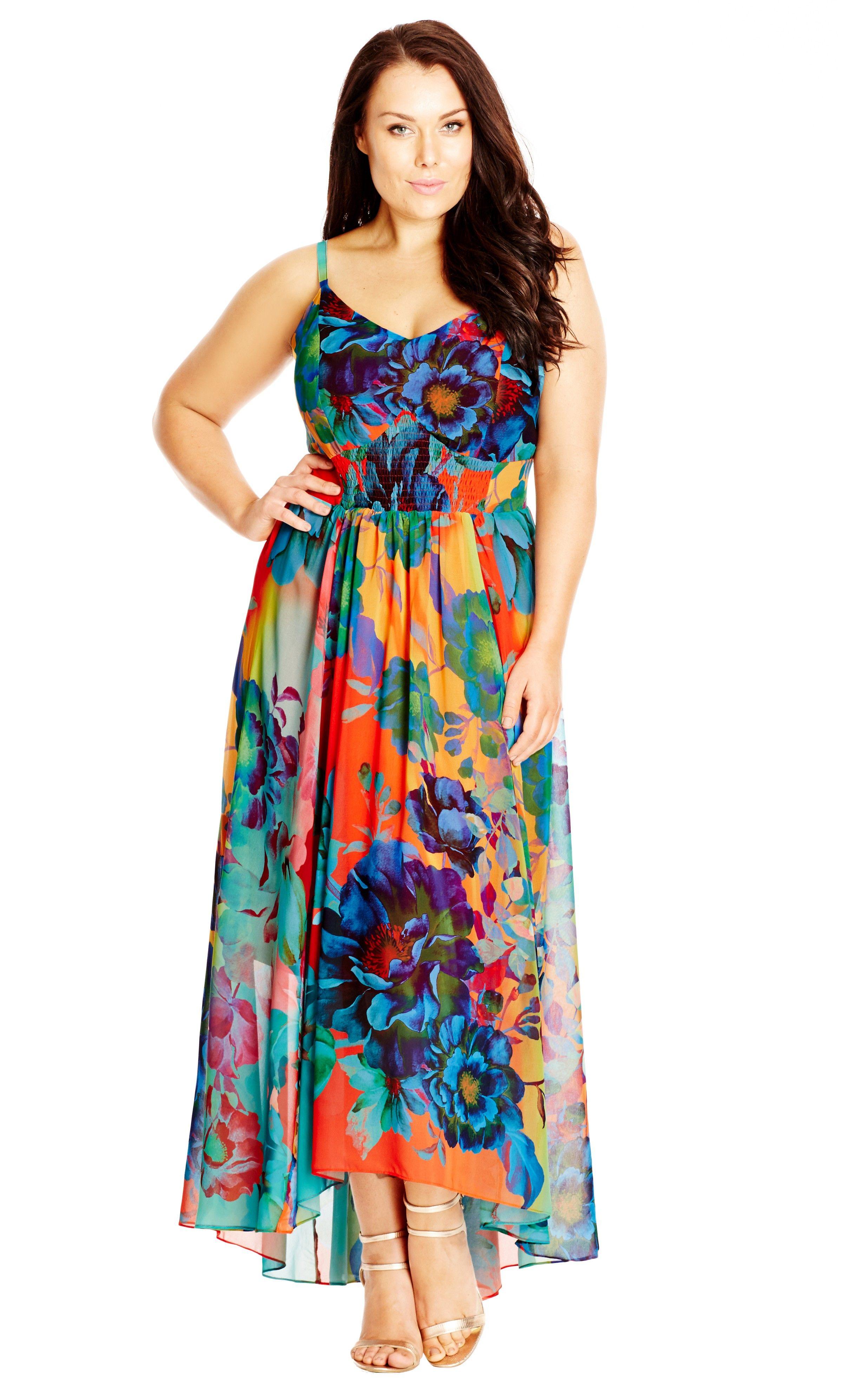 5f97bf161aa Women s Plus Size Hot Summer Days Maxi Dress