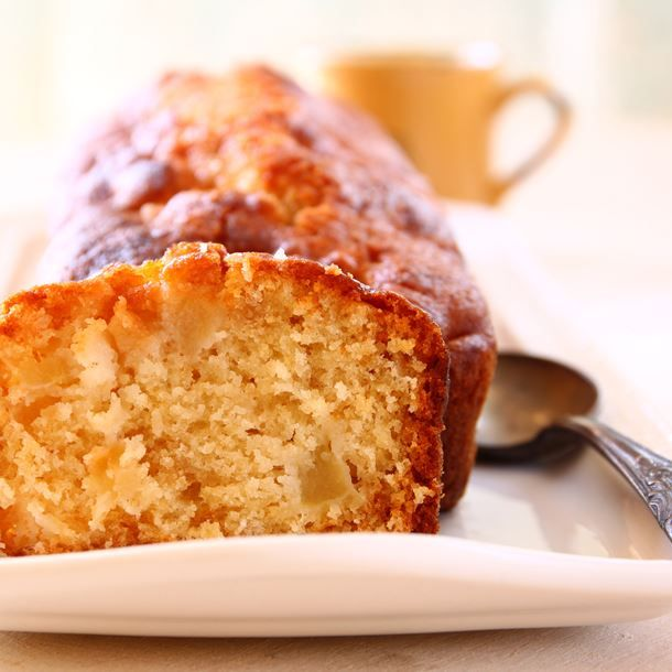 Cake à la pomme vanillé   Recette   Cake aux pommes ...