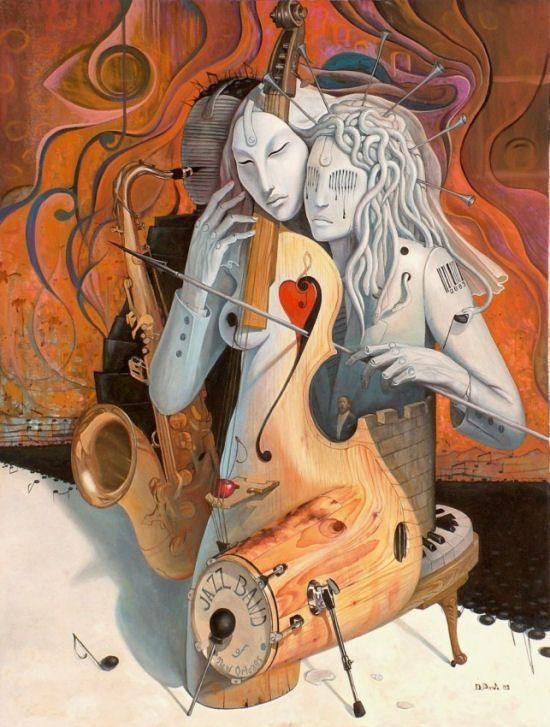 Astonishing surrealistic paintings of Adrian Borda - ego-alterego.com