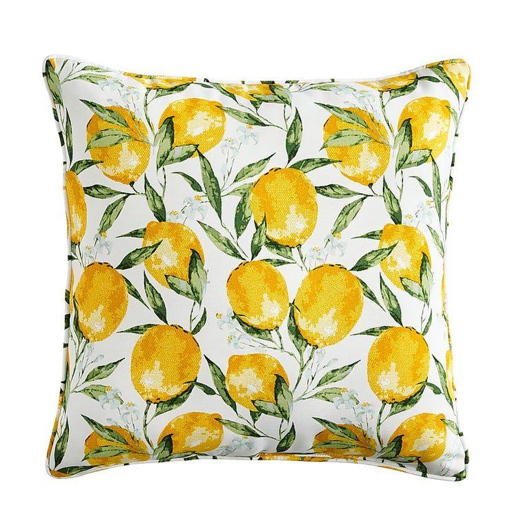 lemon outdoor throw pillow accent