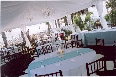 Product Description :  Add leg drapes to your tent and create the event of a lifetime. Leg drapes are designed to cover tent legs and tie to form a finsihed appearance. They can be dressed with custom color ties  Price: $25