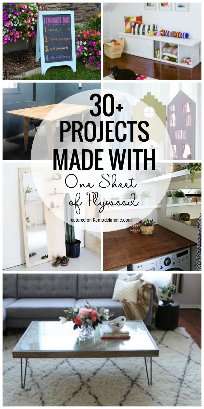 Grab A Sheet Of Plywood To Make One Of These Fabulous Projects 30 Projects Made With One Shee Easy Woodworking Projects Plywood Projects Wood Pallet Projects