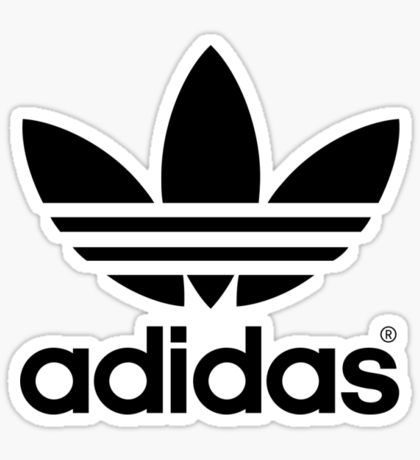 Adidas logo sticker