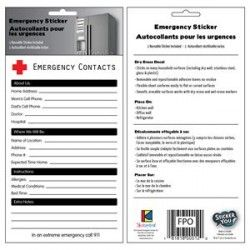 Emergency Contacts Sticker $4