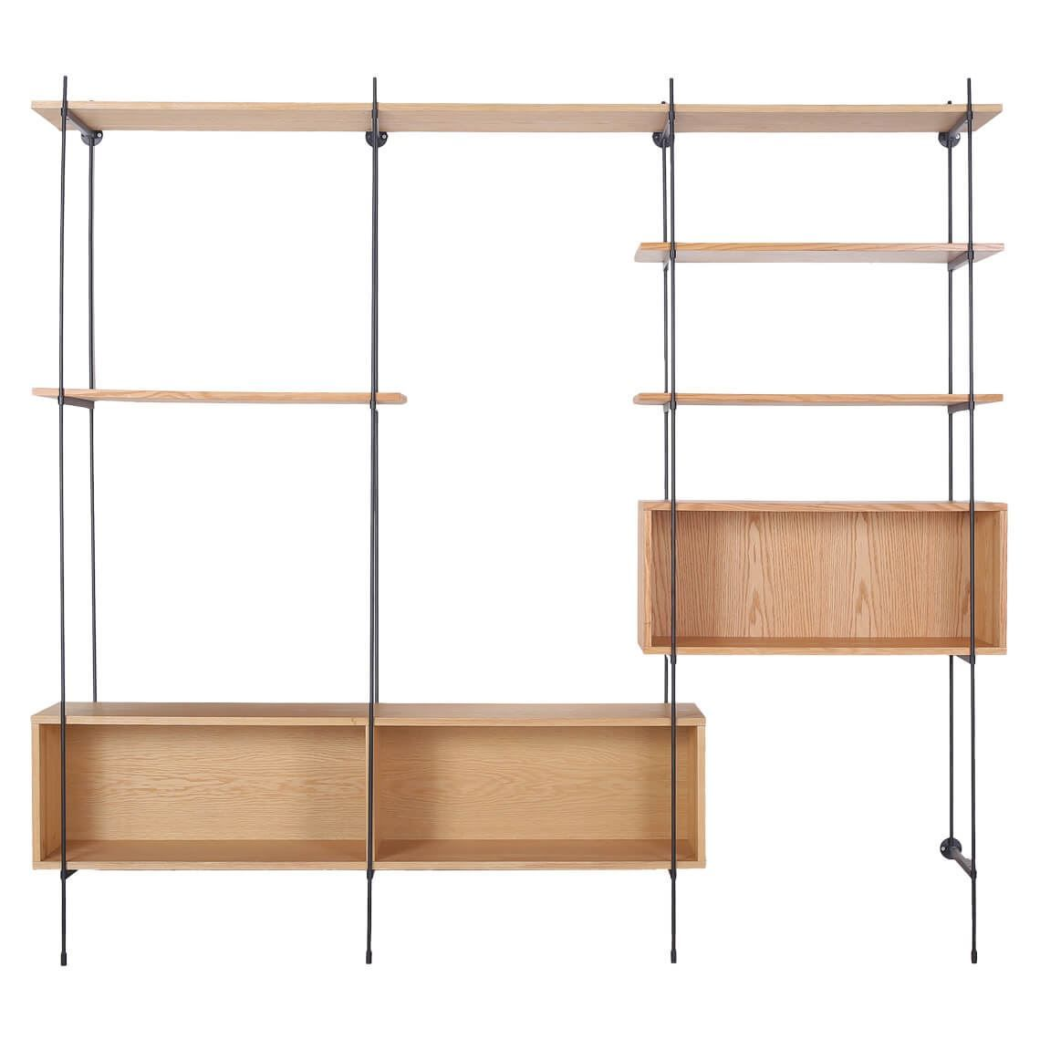 Flex Modular Kit 1 In 2020 Modular Bookshelves Oak Wall Shelves Shelving Systems