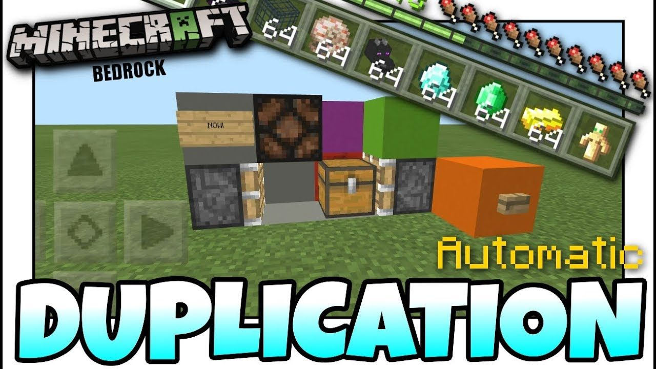 minecraft bedrock edition duplication glitch