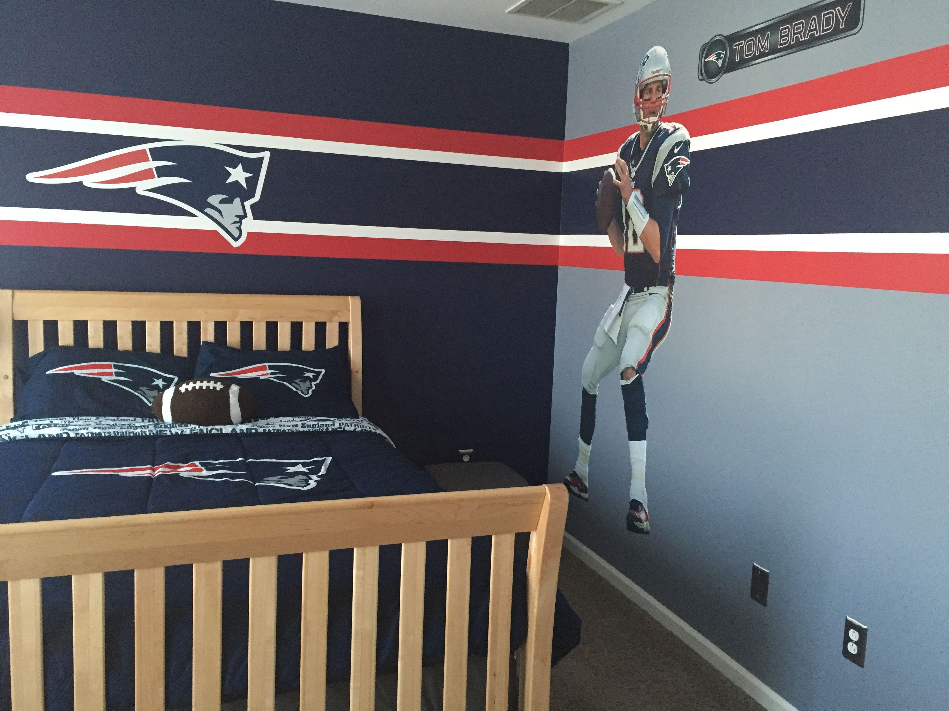 Cc Room Patriots 2 Boys Bedrooms Patriotic Bedroom Football Rooms