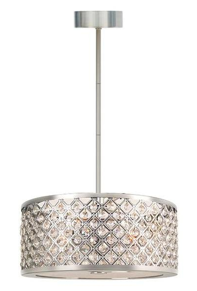 Eurofase 9 5 8 In Chrome Convertible Pendant Semi Flush Light With Crystal Shade Lowes 168