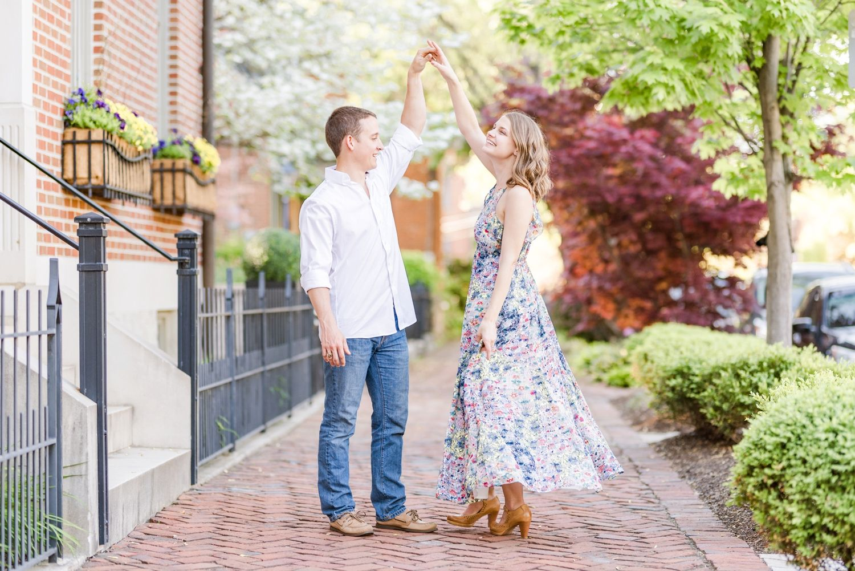 Engagement Photos at German Village & Schiller Park in