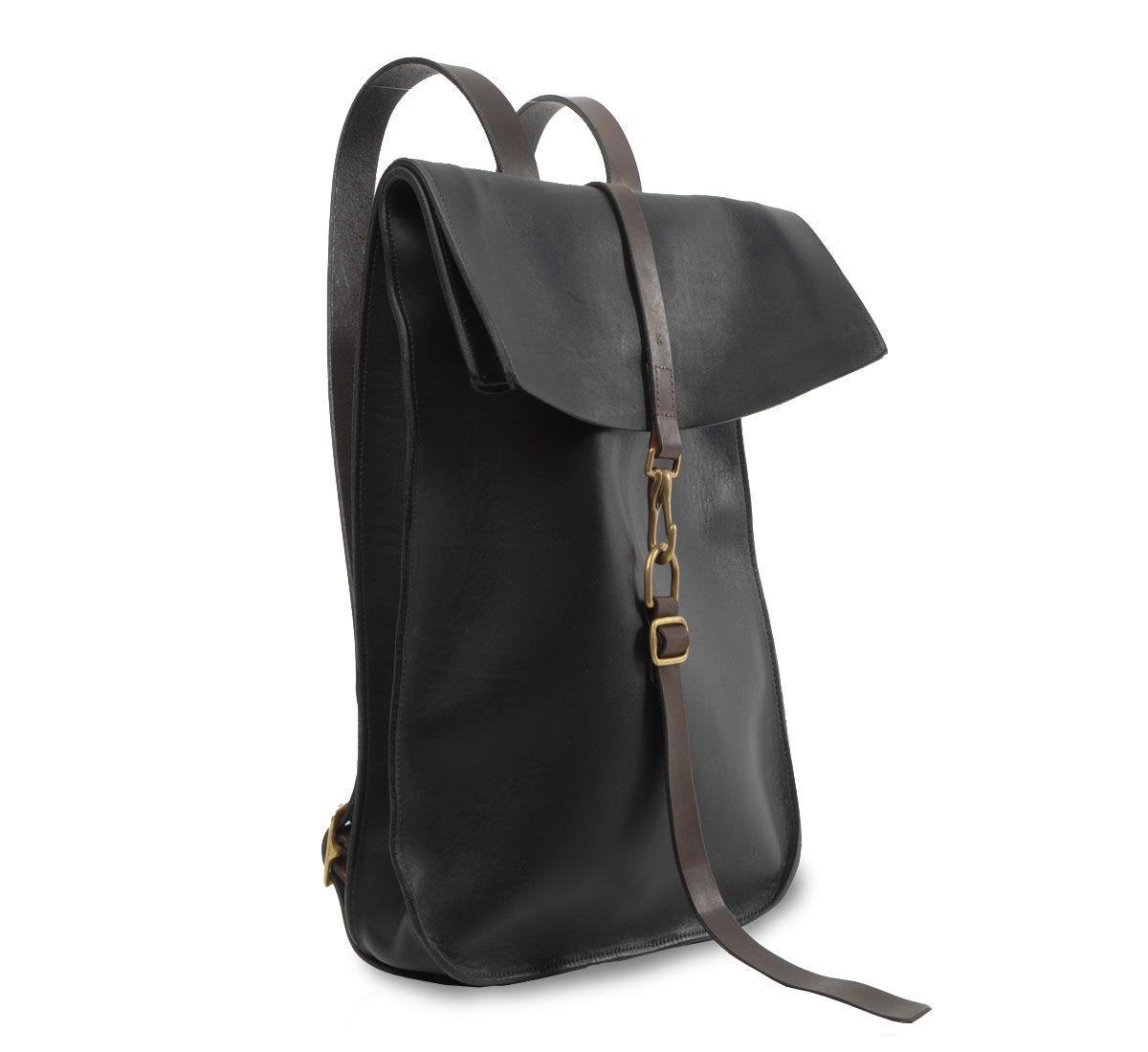 black and walnut postal backpack by kika ny ::Roztayger :: Designer Handbags & Accessories