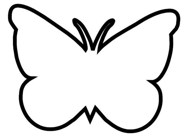 Kelebek Kaliplari Boyama Kelebekler Aplike Sablonlari Boyama