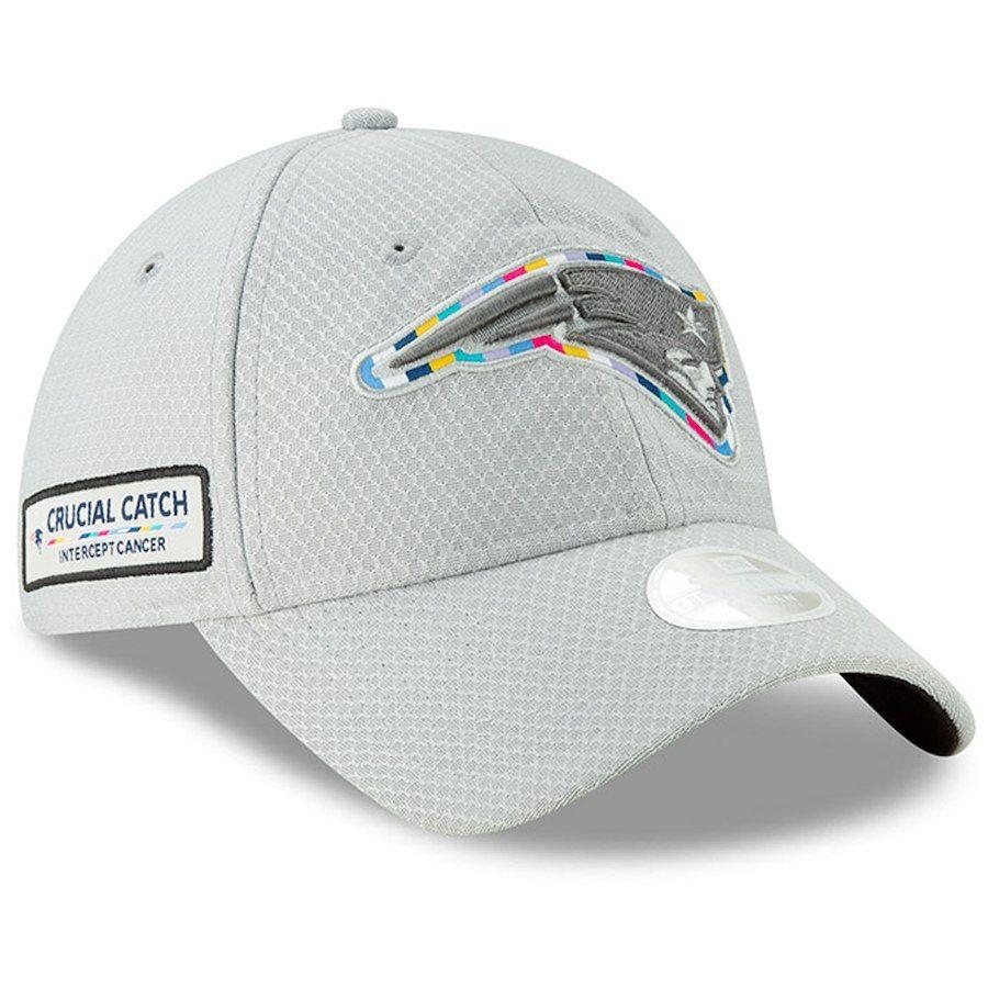 Women S New England Patriots New Era Gray Crucial Catch 9twenty Adjustable Hat Adjustable Hat New England Patriots Patriots