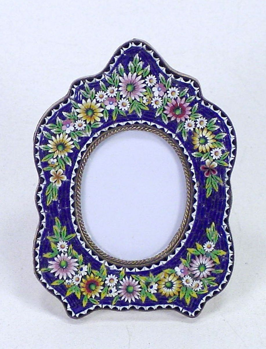 Antique Victorian Unique Micro Mosaic Micromosaic Miniature Picture Photo Frame | eBay