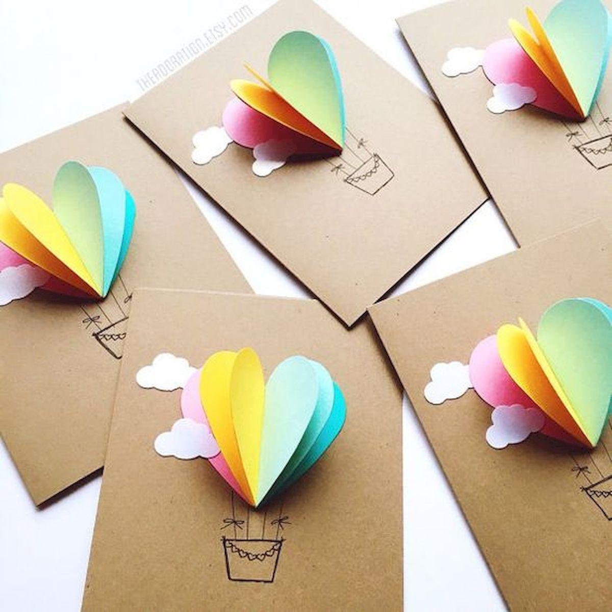 Как сделать открытка легко из бумаги