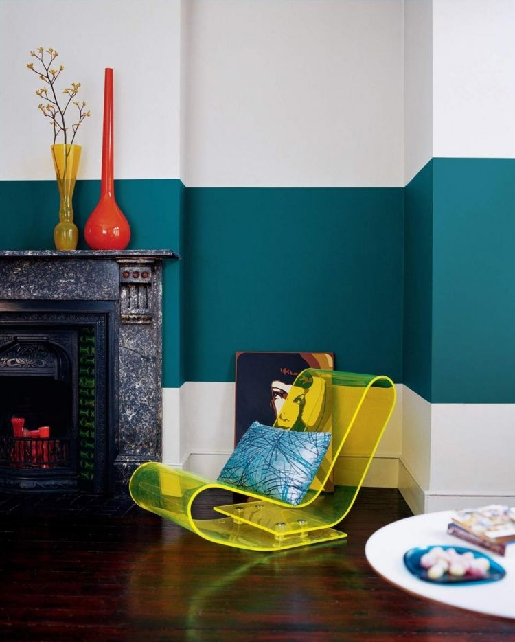 Inspirierend Wandfarbe Seidenglanzend Haus Interieur Ideen: Wandfarbe Petrol, Ihre Wirkung Und Ideen Für