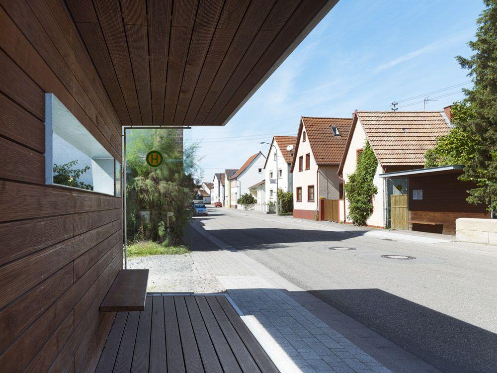 Bushaltestelle / Waschplatz Bushaltestelle, Architekt, Heim