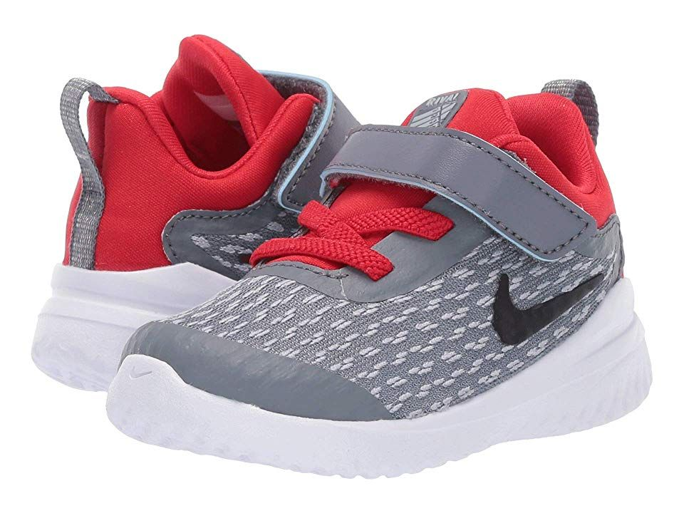 8e1a910a23 Nike Kids Rival (Infant/Toddler) Boys Shoes Cool Grey/Black/Red ...