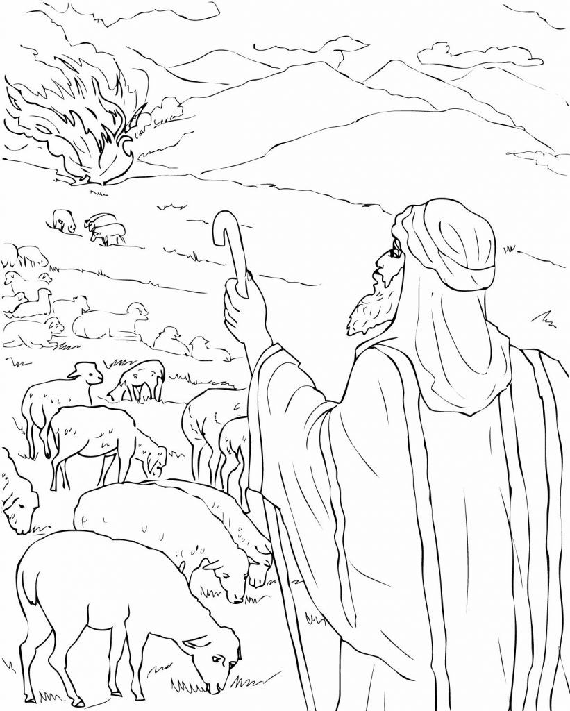 Free Printable Moses Coloring Pages For Kids Sunday School Coloring Pages Bible Coloring Pages Moses Burning Bush