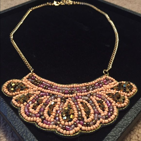 Beaded Statement Necklace Great statement necklace to add to a t-shirt. Jewelry Necklaces