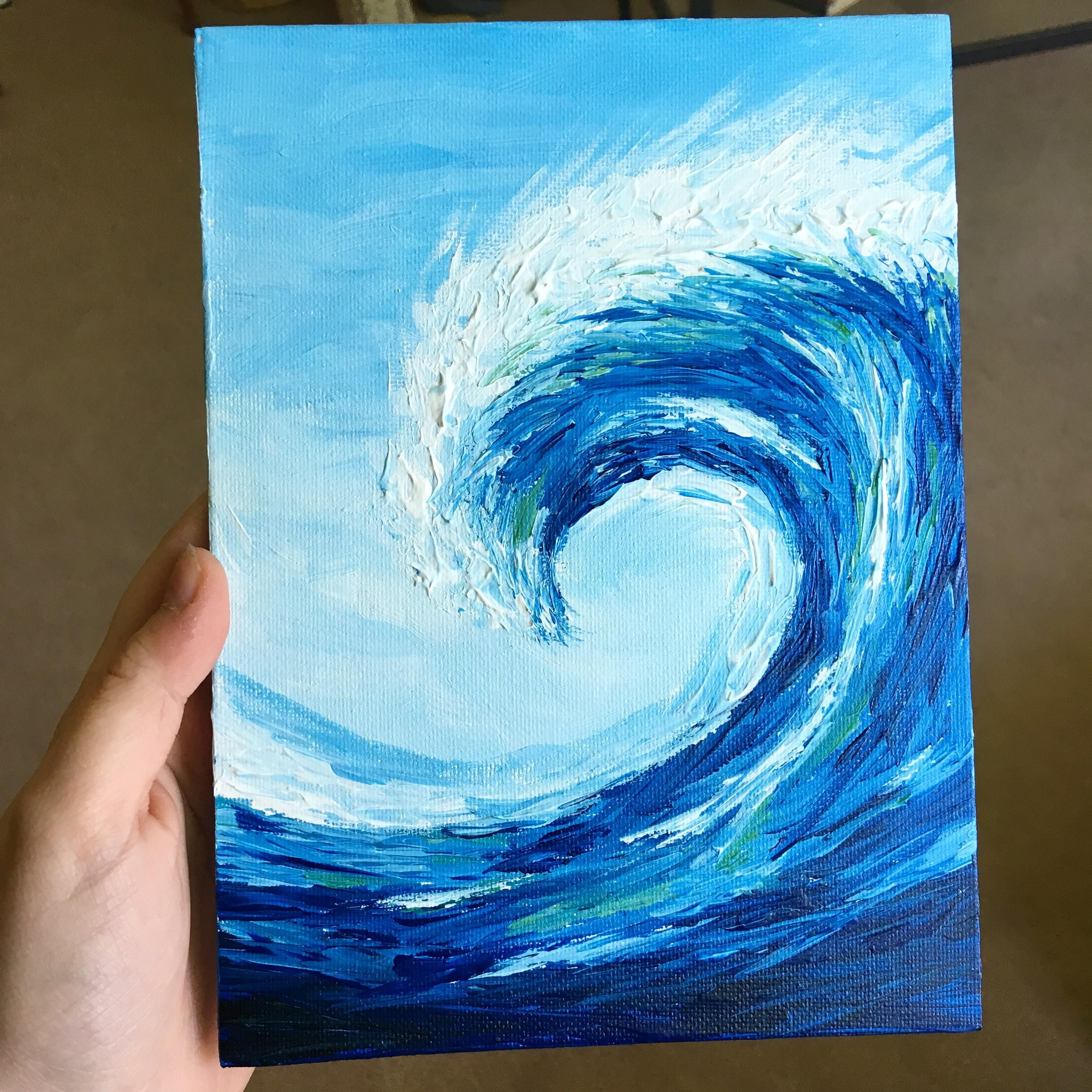 One Of My First Paintings Acrylic On Canvas 6x8 Inches Art Painting Small Diy